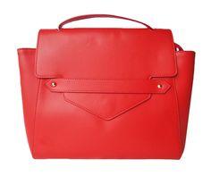 Sac besace en cuir rouge BETTY | Saheline.com