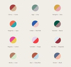 New at our Crosby Street studio: a color-theory cheatsheet to guide you through your next mani. Colour Pallete, Colour Schemes, Color Combos, Color Patterns, Color Palettes, Colour Combinations Fashion, Web Design, Logo Design, House Design