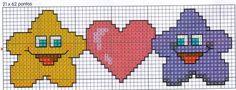 punto croce schemi gratis asciugamani | Schemi a Punto Croce per San Valentino – Arte Del Ricamo