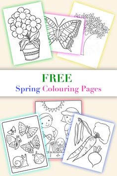 Easy to download and print Free Spring Colouring Pages for toddlers and reception! #spring #springcolouringpages #springcolouringsheets #springcoloringpages #colouringpages #coloringpages #flowerscolouringpages #flowerscoloringpages #treecoloringpages #treecolouringpages #wondertoddlers