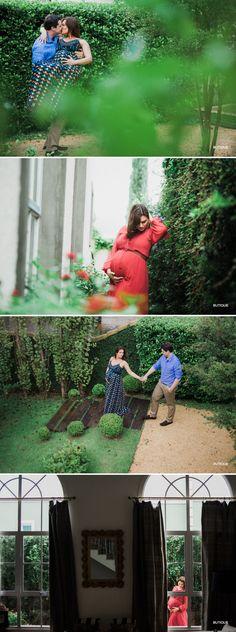 Ensaio Fotográfico Gestante em SP feito no Jardim de Casa.