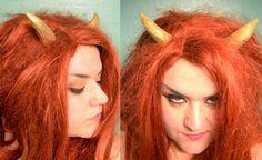 Gold Faun / Faery / Goblin Horns by changelingscloset on Etsy