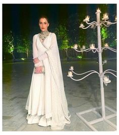 Indian Fashion Dresses, Dress Indian Style, Indian Outfits, Indian Attire, Indian Ethnic Wear, White Outfits For Women, Off White Dresses, Lace Dresses, Dress Lace
