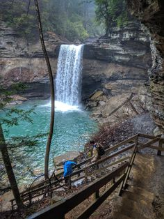 This mile loop tucked away in Tennessee's South Cumberland State Park leads you to 3 amazing waterfalls. You'll hike in a covered forest along Firescald Creek. Gorgeous scenery even on a rainy day! Vacation Places, Vacation Trips, Vacation Spots, Day Trips, Greece Vacation, Dream Vacations, Vacation Ideas, Beautiful Places To Travel, Cool Places To Visit