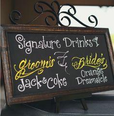 Signature Drink Ideas on itsabrideslife.com/Wedding Drinks/Wedding Cocktails/Wedding Signature Drinks