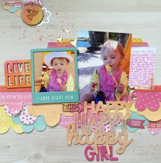 Happy, Happy, Happy Girl - American Crafts - Amy Tangerine Collection