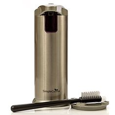 SimpleCucina Touchless Automatic Soap Dispenser Hand Sanitizer Brushed Nickel -- More info could be found at the image url.
