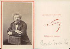 Nadar, Alexandre Dumas Père    #CDV #portraits #Hommes_et_Femmes_de_lettre