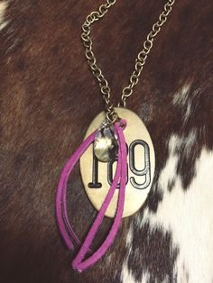 Antique Cattle Tag #189 Necklace www.chasingbuffalo.com #cowgirl #western #jewelry