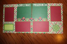 12 x 12  premade Chrismtas scrapbook layout titled Christmas Programs by creationsbycindyg on Etsy