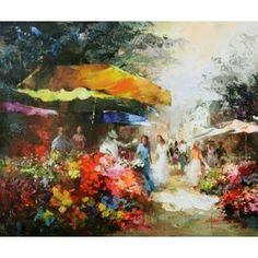 Market place II Canvas Art - Willem Haenraets (20 x 24)