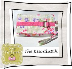 Clutch/wristlet PDF Pattern Kiss by ChrisW by ChrisWDesigns, $6.00