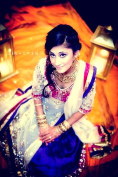 Love the colors of the outfit and pretty picture of the girl! #desi #fashion