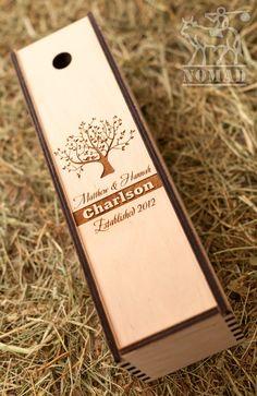 Wine box Wedding Wine Box Custom Wine Box Wine Box by NomadGift