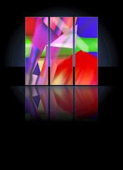 Tryptichon, 3er Bild aus farbenfrohen Gemälden Clipart, Adobe, Northern Lights, Nature, Pretty Pictures, Nice Asses, Naturaleza, Cob Loaf, Nordic Lights