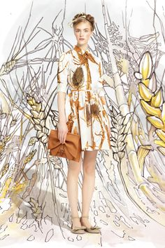 Red Valentino Spring 2014 Ready-to-Wear Collection Slideshow on Style.com | #fashion #dress #floral