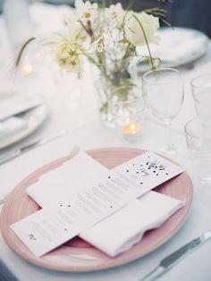 Digital printed menu. Design: Pretty Paper. Photo: Erika Gerdemark.