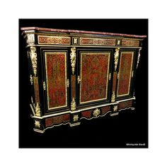 Antiquites-biau.com - French cabinet in #Boulle #marquetry #Napoléon III 19th #marqueterie #design #ormolu #Boullemarquetry #marqueterieboulle #frenchantiques #interiors #frenchinteriors #luxury #luxe #antiques #boullefurniture #buffet #boullecabinet #luxurylifestyle #luxuryfurniture #bronze #gildedbronze