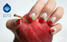An #apple 🍎 a day keeps the doctor away.  #nailart #manicure  #🌴💅 #VictoriaBC #YYJ
