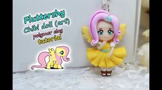 Fluttershy art | Chibi doll ✿ Polymer clay Tutorial (fimo) ✿My little pony