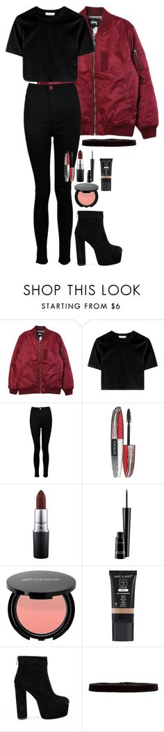 """""""Untitled #255"""" by alexmlenek on Polyvore featuring Stussy, Boohoo, L'Oréal Paris, MAC Cosmetics and Steve Madden"""