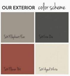 Exterior Paint Schemes, Paint Color Schemes, Exterior Paint Colors For House, Paint Colors For Home, Paint Colours, Exterior Paint Color Combinations, Exterior House Paint Colors, Black Trim Exterior House, Exterior Design