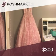 Prom Dress/ Quincinera Dress Blush pink, barbie pink, very poofy, low V-back, pink beading, 4 different layers, can be altered, never worn, very heavy No Brand Dresses Prom