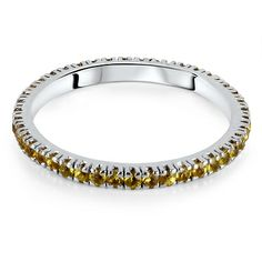 SORENTO Micro Set Coloured Stone Eternity Rings from Hatton Jewels