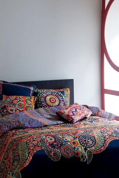 Fun, colorful bedding for your new spring room! Shop now at natori.com/josie