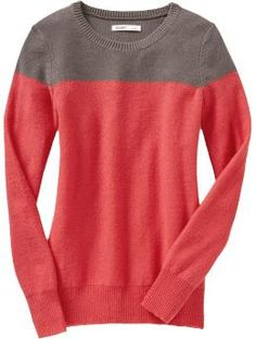 Not really a huge color blocking fan, but I like this sweater from ON.