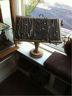 Vintage Style Jewelry Stand (is that an old bookstand?)