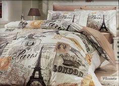 ~ Another guest room bedding theme ~ Paris London Vintage Travel theme