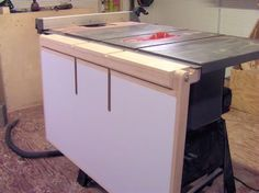 Make a Folding Out Feed Table for your Table Saw - by WoodJediNTraining @ LumberJocks.com ~ woodworking community