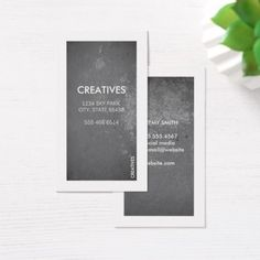White Border / Grungy Texture Business Card - classic gifts gift ideas diy custom unique