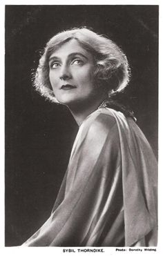 Dame Agnes Sybil Thorndike (1882 - 1976) was an English actress who toured internationally in Shakespearean productions, often appearing with her husband Lewis Casson.