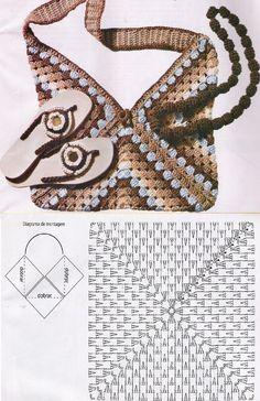 Transcendent Crochet a Solid Granny Square Ideas. Inconceivable Crochet a Solid Granny Square Ideas. Crochet Diy, Crochet Tote, Crochet Handbags, Crochet Purses, Crochet Diagram, Crochet Chart, Crochet Patterns, Knitting Patterns, Crochet Squares