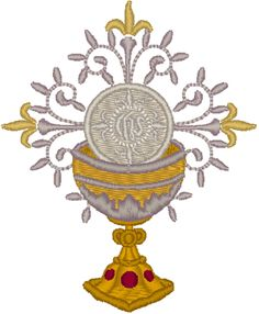 Vintage Ecclesiastical Design 264 Embroidery Design. Very elegant Chalice design.