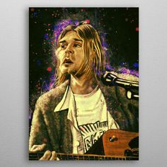 Kurt Caricature by Abraham Szomor | metal posters - Displate