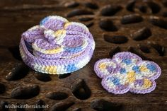wishes in the rain: Free Pattern: Sunshine Flower Coasters