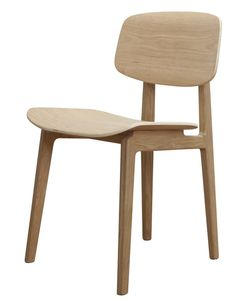 The stylish Dining Chair Oak Frame was designed by renowned designers Knut Bendik Humlevik and Rune Krojgaard.The long-standing design partnership between Dinning Chairs, Bar Chairs, Office Chairs, Dining Room, Chaise Restaurant, White Oak Wood, Scandinavian Dining Chairs, Luminaire Design, Chair Pads