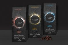 Eclipse Coffee Packaging and Branding by Javier Garcia on Behance. Created for Adobe Live Stream.