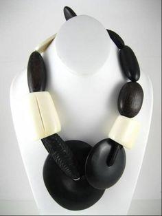 Gerda Lynggaard for Monies Wood and Horn Necklace