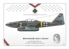 GERMAN AIR FORCE . LUFTWAFFE (WW2) Erprobungskommando 262III./EJG 2, Lechfeld, June - July 1945Geschwaderkommodore Major Heric Hogagen