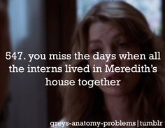Grey's Anatomy Problems... Thinking about going back and watching the show from the beginning...