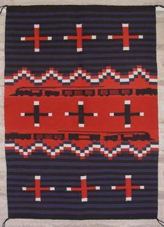 1956 Train Pictorial Navajo WEaving