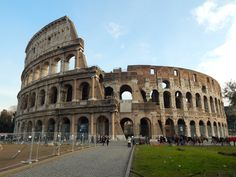 The Colosseum in Rome also known as the Flavian Amphitheatre built between 70-80 A.D.
