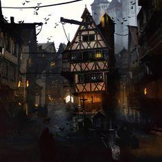 Medieval City by Julien Renoult on ArtStation.