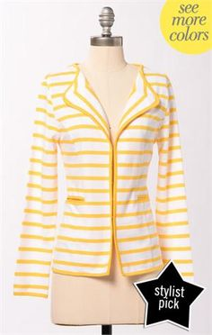 Is this not Divine????  The Vanishing Point Jacket @DownEast Basics #SpringStyle