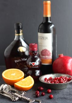 Pomegranate Orange Sangria | Completely Delicious
