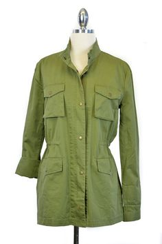 $60, Olive Cargo Jacket | Simply Audrey